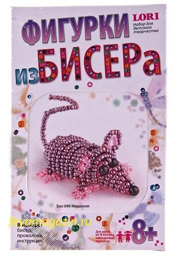 "Фигурка из бисера ""Мышонок"", feyamagazin.ru"
