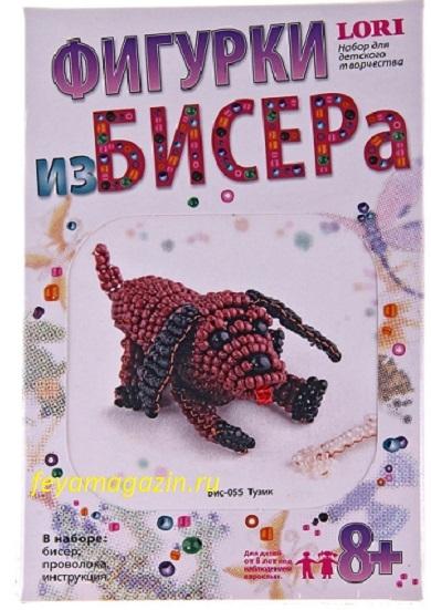 "Фигурка из бисера ""Тузик "", feyamagazin.ru"
