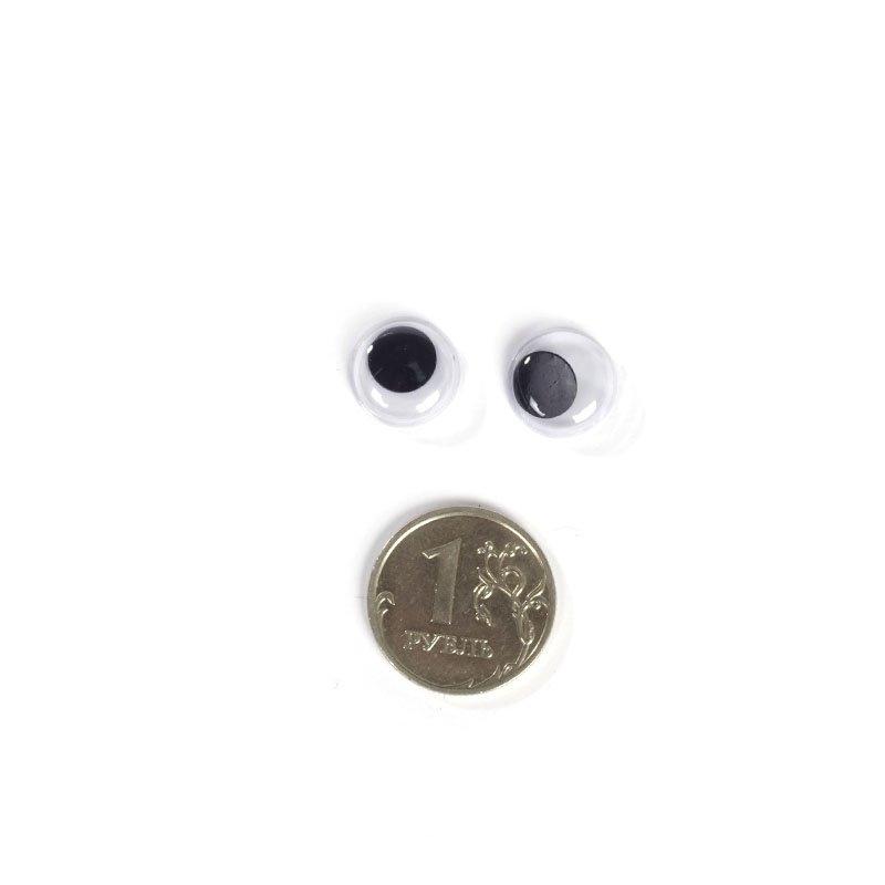 Глаза бегающие для игрушек диам. 12 мм