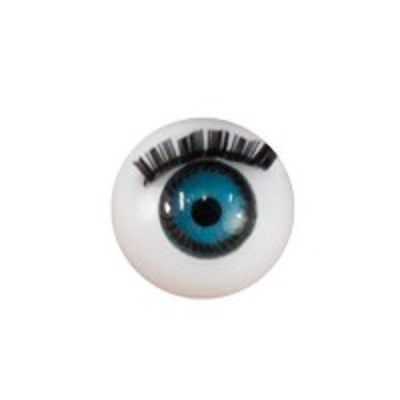 Глазки для кукол с ресничками голубые диам.12 мм