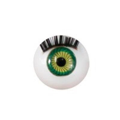 Глазки для кукол с ресничками зеленые диам.12 мм