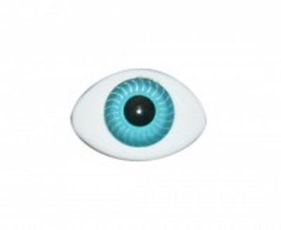 Глазки для кукол маленькие голубые 8х12 мм.
