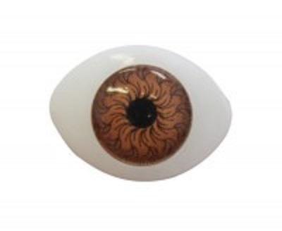 Глазки для кукол карие  Размер 18х22 мм