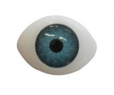 Глазки для кукол серые  Размер 18х22 мм