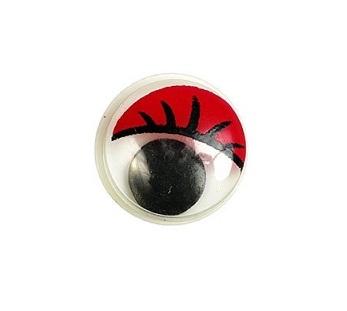 Глазки бегающие с ресничками 20 мм. красные