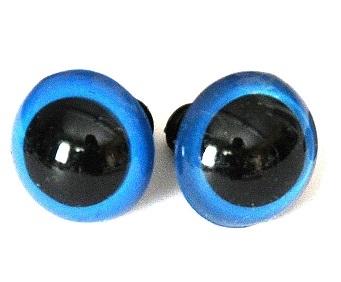 Глаза винтовые полупрозрачные, цв.голубой, 12 мм