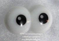 Глаза винтовые круглые белые, диам.22 мм