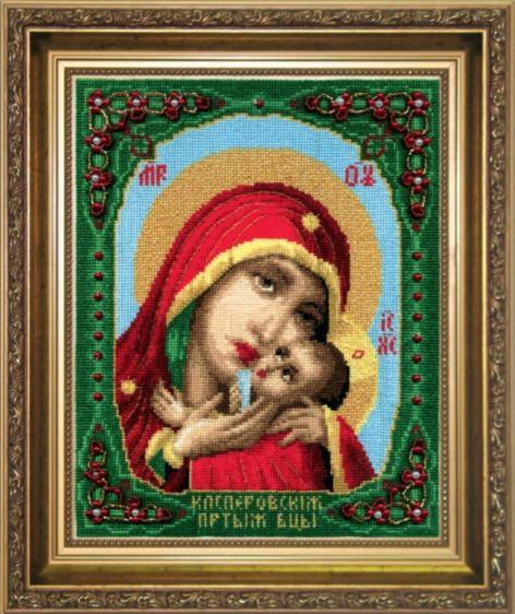 """Набор для вышивания крестом """"Чаривна Мить""""А № 099 икона Образ Пресвятой Богородица Касперовской 18,5*23"""