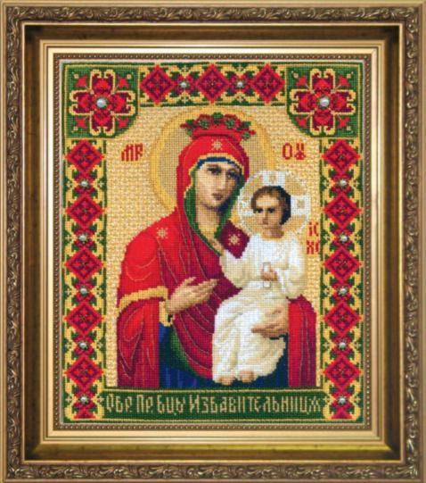 """Набор для вышивания крестом """"Чаривна Мить""""А № 102 икона Образ Пресвятой Богородицы 20*24"""