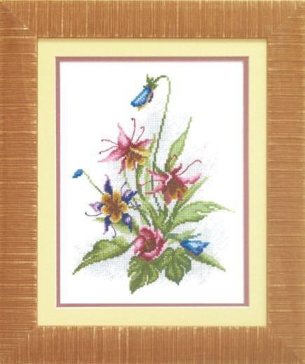"""Набор для вышивания крестом """"Чаривна Мить""""А № 114 Цветы лета 19*25"""