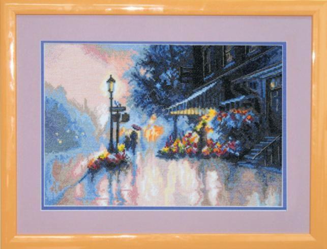 """Набор для вышивания крестом """"Чаривна Мить""""А № 126 Цветочный магазин 34,5*23,5"""