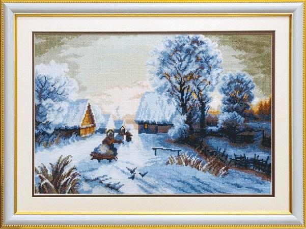 """Набор для вышивания крестом """"Чаривна Мить""""А № 164 Зимний закат 40,5*27,5"""