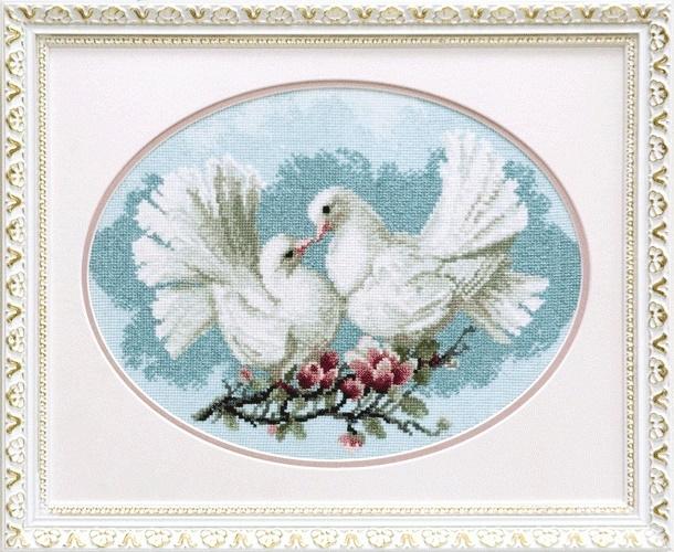 """Набор для вышивания крестом """"Чаривна Мить""""А № 165 Любовь и голуби 30*23"""