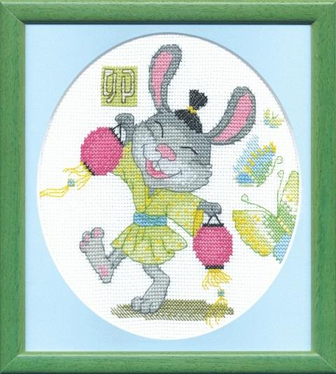 """Набор для вышивания крестом """"Чаривна Мить""""А № 187 Заяц 15,5*17,5"""