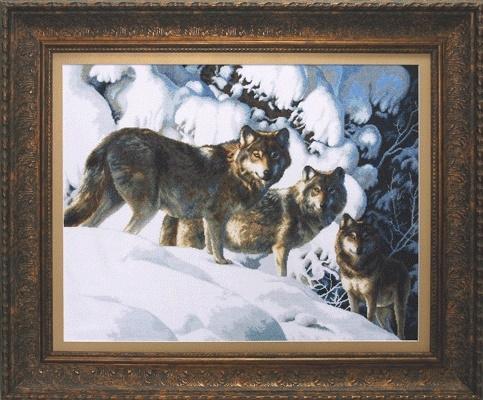 """Набор для вышивания крестом """"Чаривна Мить""""А № 199 Волчья стая 55*65"""