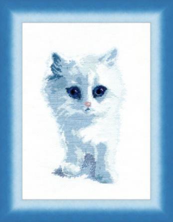 """Набор для выш. крестом """"Чаривна Мить"""" M № 92(350) Белый кот 19*26,5"""