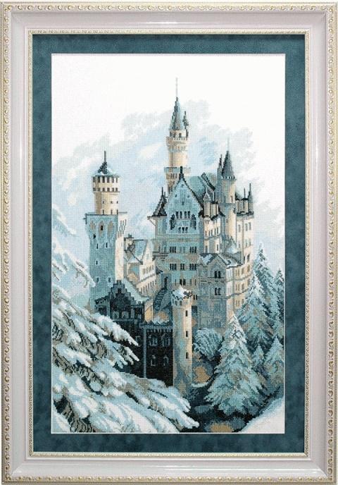 """Набор для выш. крестом """"Чаривна Мить"""" М № 98(А151) Замок зимой 36,5*60,5"""
