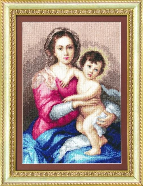 "Набор для выш. крестом ""Чаривна Мить"" М №116 Мадонна с младенцем 28*40"