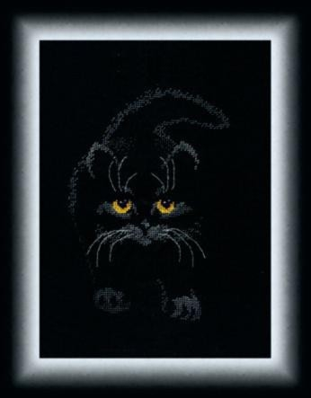 Набор для вышивки крестиком М-142 (351) Черный кот