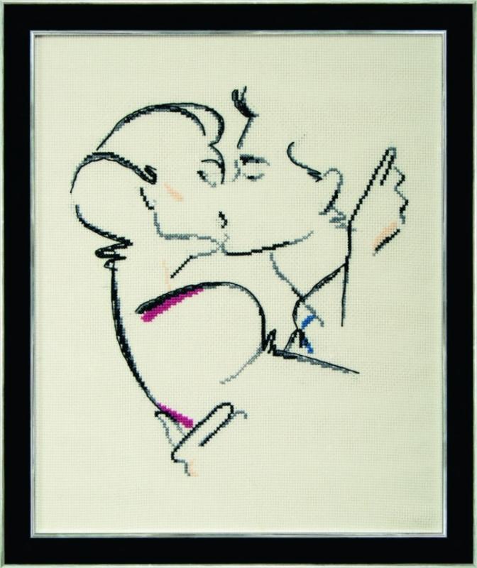 Набор для вышивки крестиком М-196 Желанный поцелуй