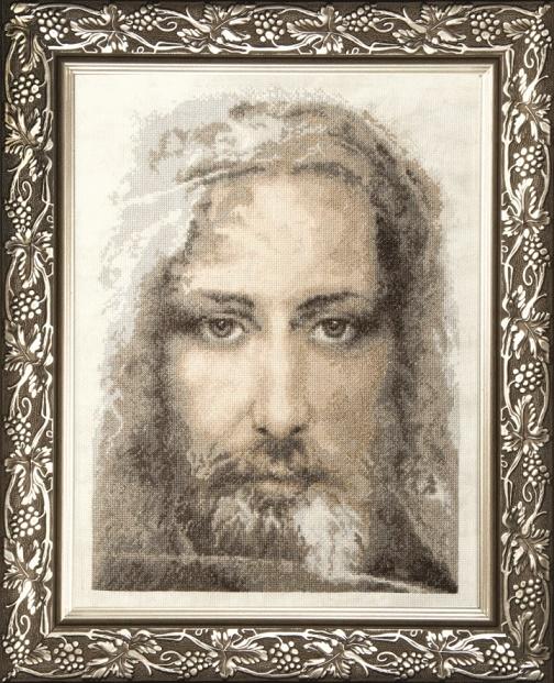 Набор для вышивки крестиком М-202 Священная реликвия христиан Туринская плащаница правдивый образ Господа Нашего Иисуса Христа