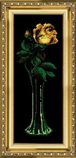 Набор для вышивки крестиком №129 Желтая роза