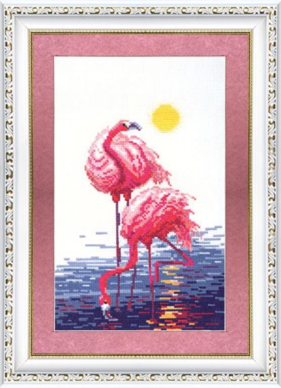 """Набор для вышивания крестом """"Чаривна Мить"""" № 151 Фламинго 19*28"""