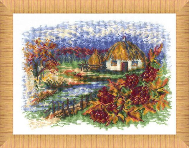 """Набор для вышивания крестом """"Чаривна Мить"""" № 175 Осень 26*23"""
