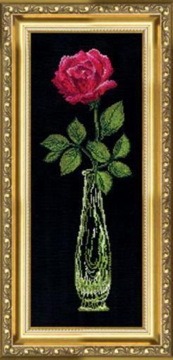 Набор для вышивки крестиком №202 Красная роза