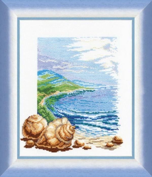 """Набор для вышивания крестом """"Чаривна Мить"""" № 209 Море левая часть 29*34"""