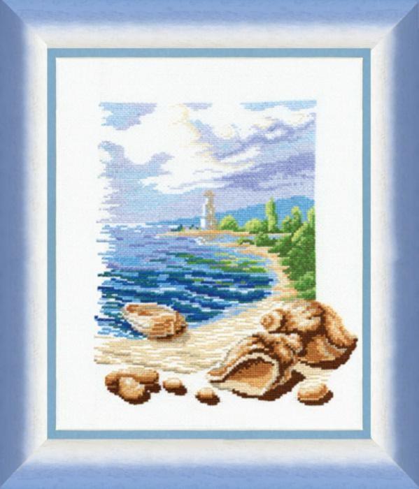 """Набор для вышивания крестом """"Чаривна Мить"""" № 211 Море 26*33"""