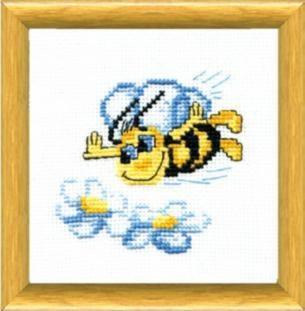 """Набор для вышивания крестом """"Чаривна Мить"""" № 228 Пчелка 15*15"""