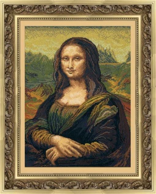 Набор для вышивки крестиком №240 По мотивам Леонардо да Винчи Мона Лиза