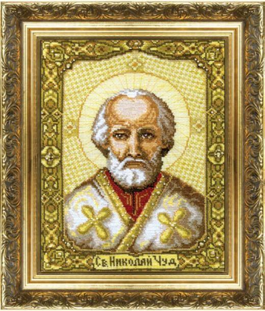 Набор для вышивки крестиком №253 Икона Святителя Николая Чудотворца