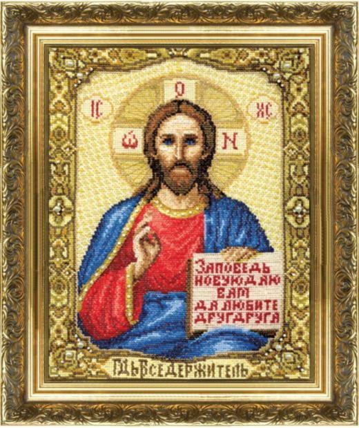 Набор для вышивки крестиком №254 Икона Господа Иисуса Христа