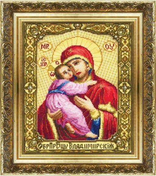 Набор для вышивки крестиком №255 Икона Образ Пресвятой Богородицы Владимирской