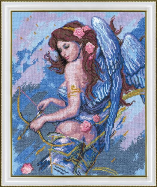 """Набор для вышивания крестом """"Чаривна Мить"""" № 269 Ангел с луком 27*33,5"""
