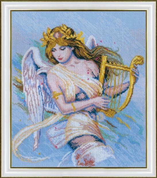 Набор для вышивки крестиком №271 По мотивам К. Банга Муза-ангел-музыкант