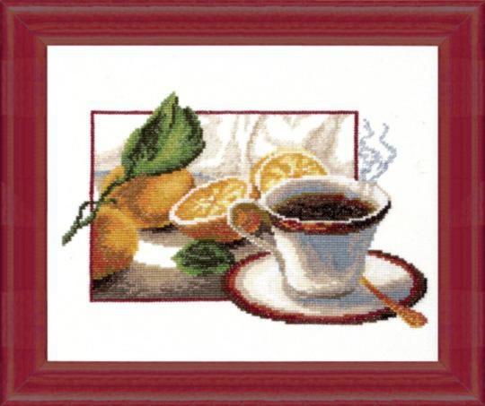 """Набор для вышивания крестом """"Чаривна Мить"""" № 285 Чашка кофе 24*20"""