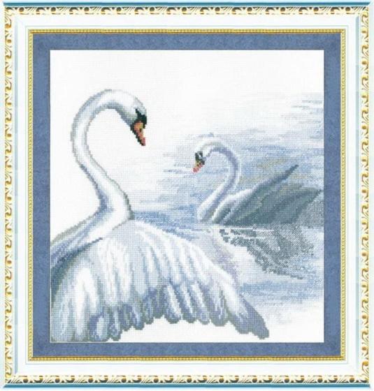 """Набор для вышивания крестом """"Чаривна Мить"""" № 294 Лебеди 27*27"""