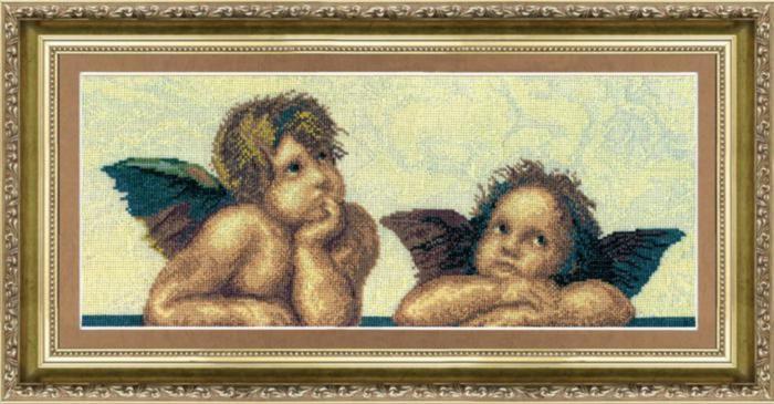 Набор для вышивки крестиком №305 По мотивам Рафаэля Сикстинская Мадонна (фрагмент)