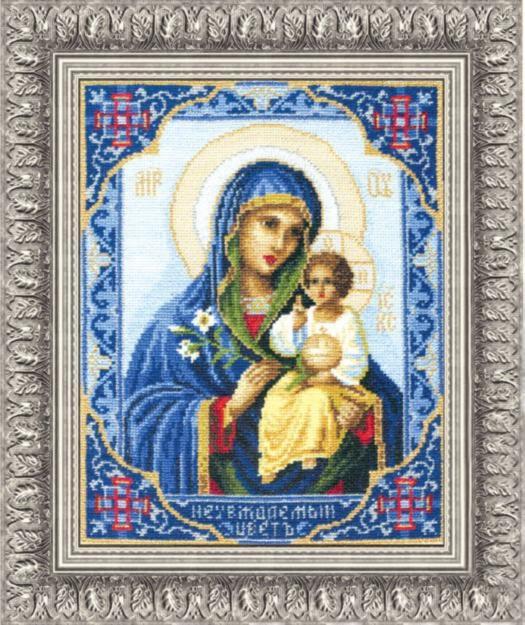 Набор для вышивки крестиком №314 Икона Божьей Матери Неувядаемый Цвет