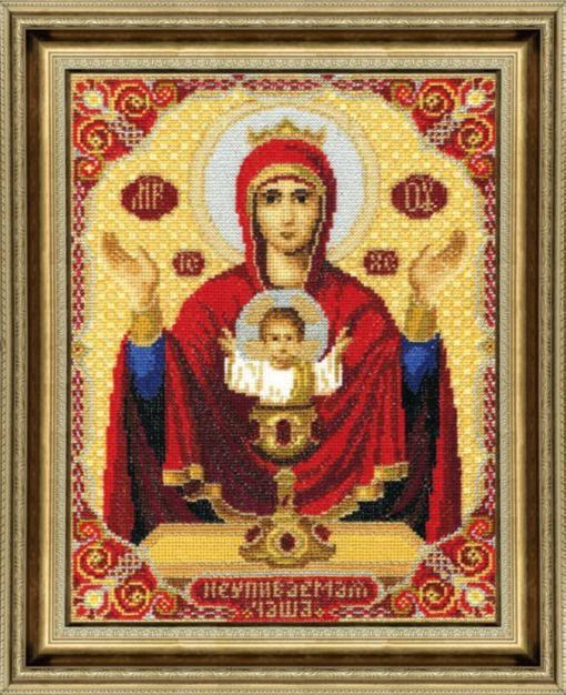 Набор для вышивки крестиком №324 Икона Пресвятой Богородицы Неупиваемая Чаша