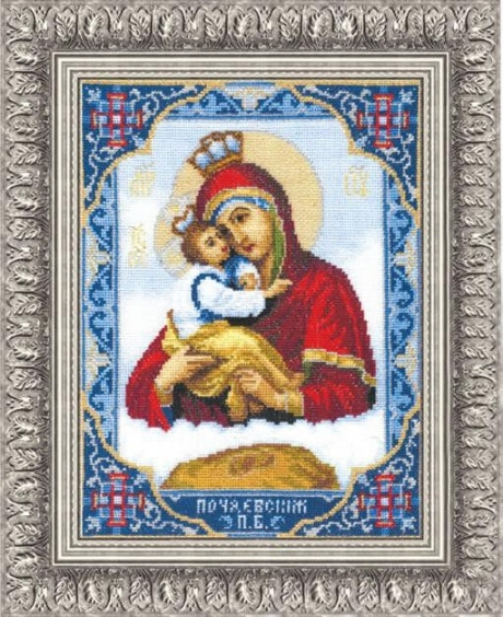 Набор для вышивки крестиком №325 Икона Пресвятой Богородицы Почаевской