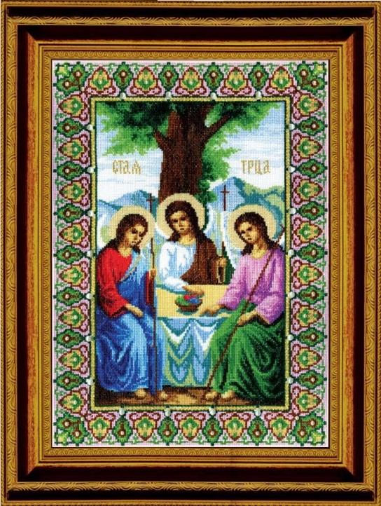 Набор для вышивки крестиком №344 Икона Пресвятой Троицы
