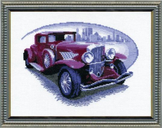 Набор для вышивки крестиком №346 Ретро-автомобиль