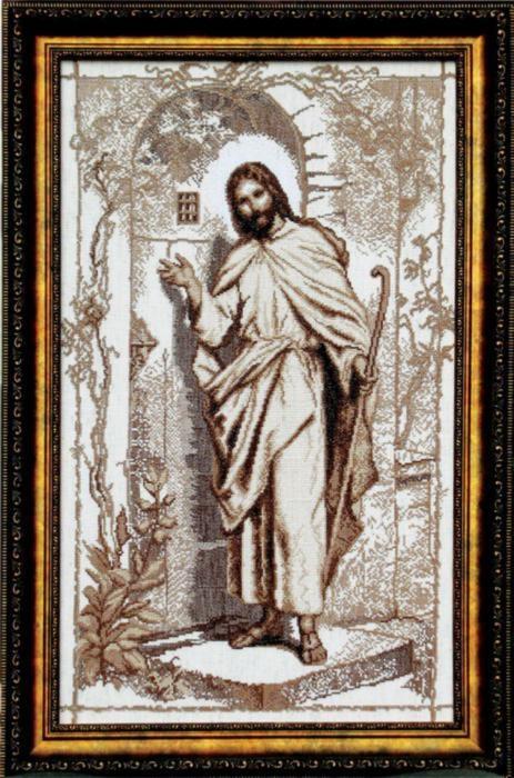 Набор для вышивки крестиком №354 Иисус стучится в твою дверь