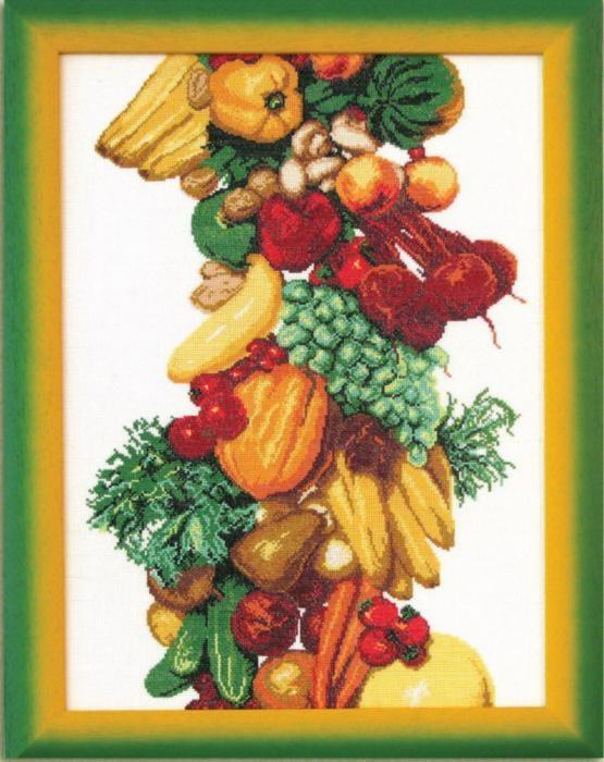 """Набор для вышивания крестом """"Чаривна Мить"""" № 357 Овощи 31,5*45"""