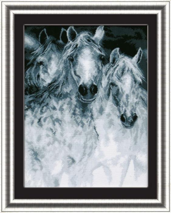 Набор для вышивки крестиком №395 Лошади