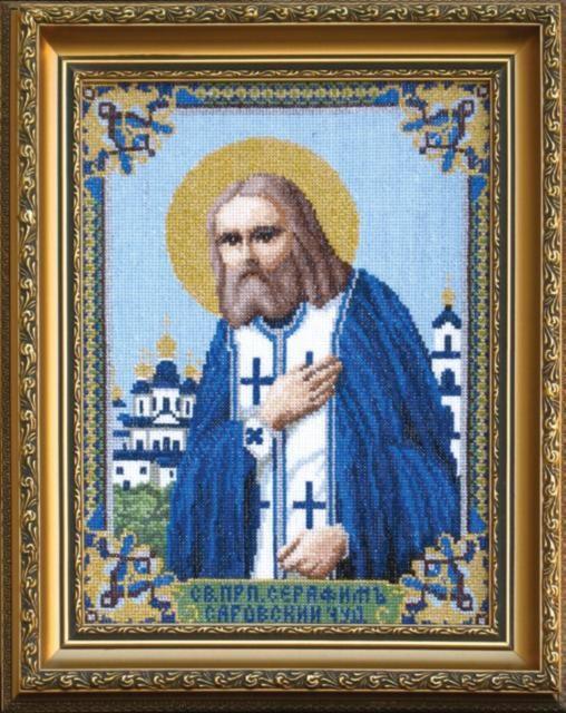 Преподобный Серафим Саровский Чудотворец. Икона 21*26,5, набор для вышивки крестом/feyamagazin.ru